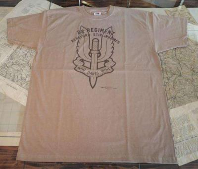 T-SHIRT CON LOGO 22 REGIMENT TAN - Tg M