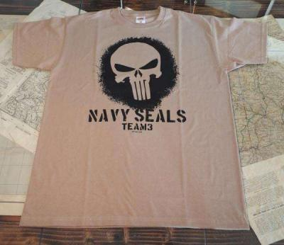 T-SHIRT CON LOGO NAVY SEAL TEAM 3 TAN
