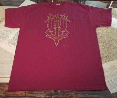 T-SHIRT CON LOGO 22 REGIMENT BORDEAUX - Tg XL