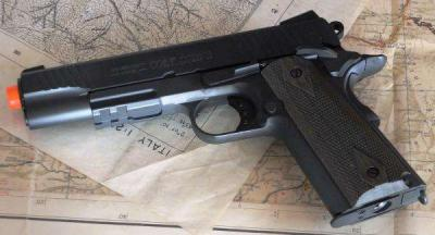 COLT 1911 RAIL GUN FULL METAL BLOW BACK A CO2